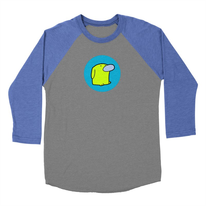 DOGMO DOG Men's Baseball Triblend Longsleeve T-Shirt by Dogmo's Artist Shop