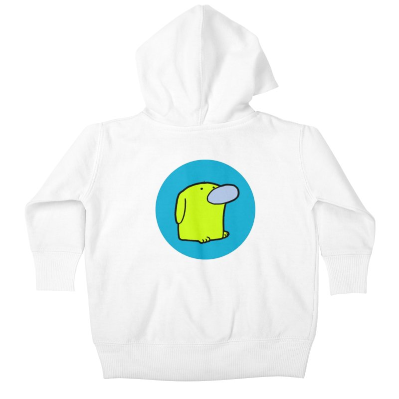 DOGMO DOG Kids Baby Zip-Up Hoody by Dogmo's Artist Shop
