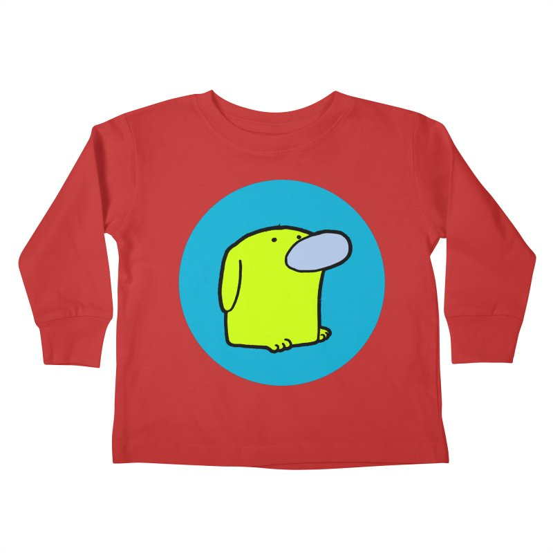 DOGMO DOG Kids Toddler Longsleeve T-Shirt by Dogmo's Artist Shop