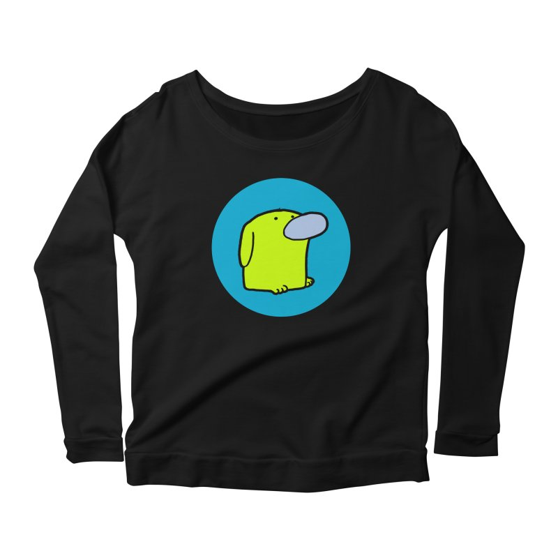 DOGMO DOG Women's Scoop Neck Longsleeve T-Shirt by Dogmo's Artist Shop