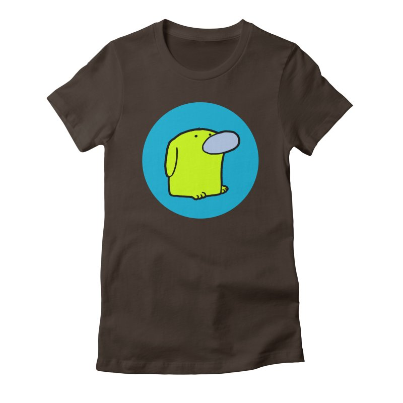 DOGMO DOG Women's Fitted T-Shirt by Dogmo's Artist Shop