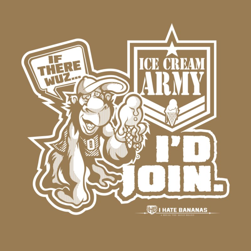 IHB ICE CREAM ARMY Women's Scoopneck by Dogwings