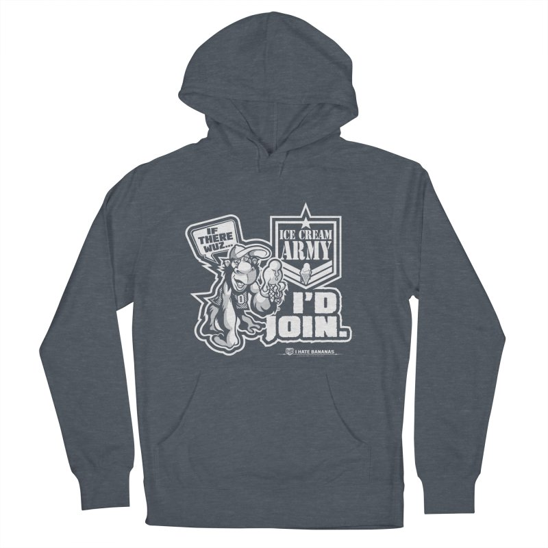 IHB ICE CREAM ARMY Men's Pullover Hoody by Dogwings