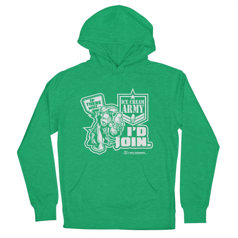 IHB ICE CREAM ARMY Men's French Terry Pullover Hoody by Dogwings