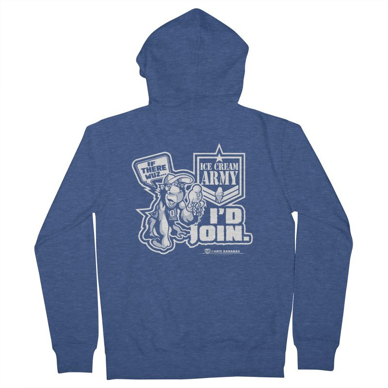 IHB ICE CREAM ARMY Women's Zip-Up Hoody by Dogwings
