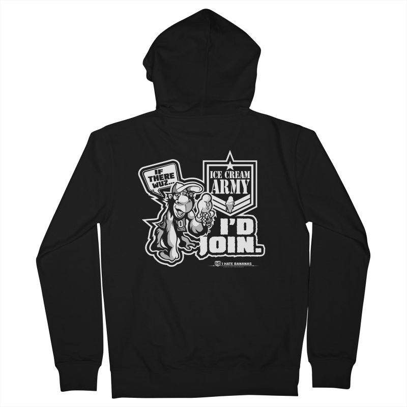 IHB ICE CREAM ARMY Men's Zip-Up Hoody by Dogwings