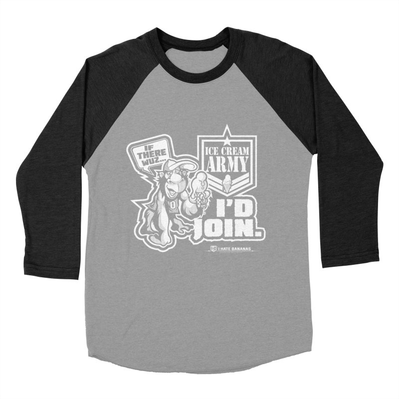IHB ICE CREAM ARMY Women's Baseball Triblend T-Shirt by Dogwings