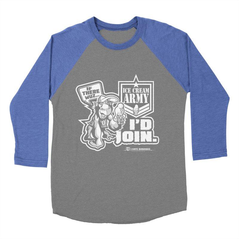 IHB ICE CREAM ARMY Men's Baseball Triblend T-Shirt by Dogwings