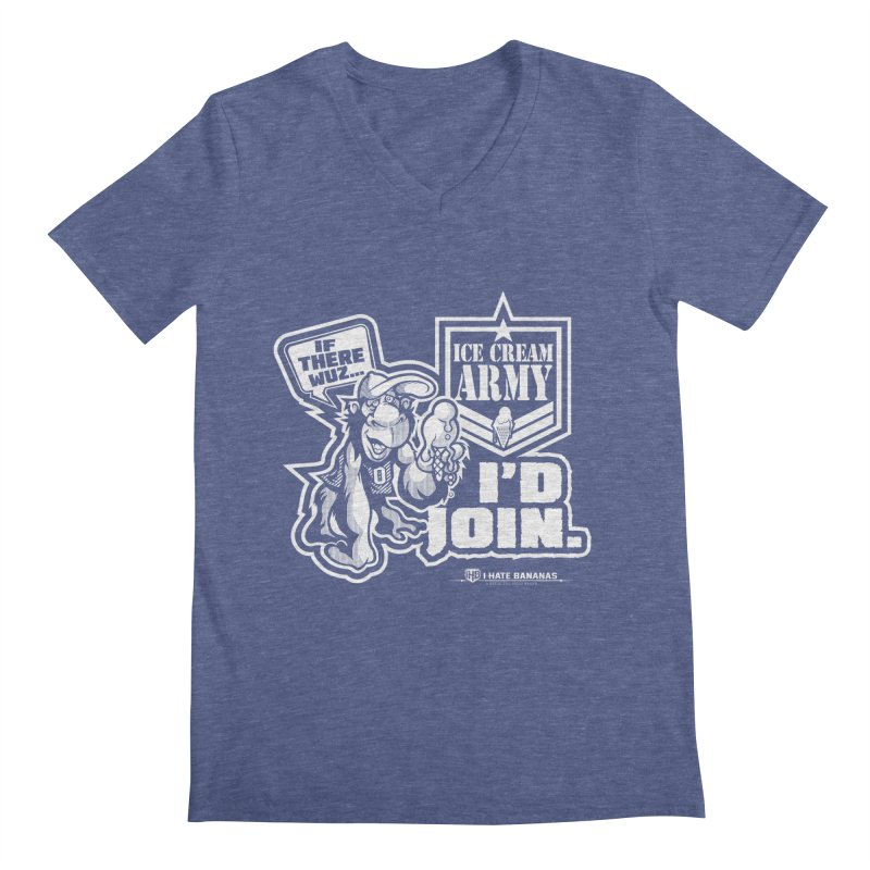 IHB ICE CREAM ARMY Men's V-Neck by Dogwings