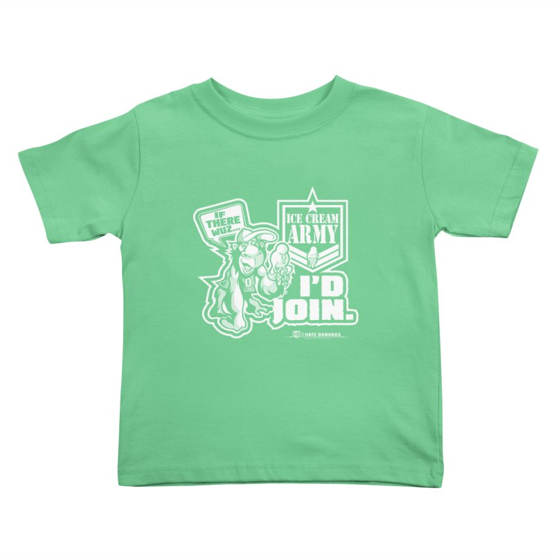 IHB ICE CREAM ARMY Kids Toddler T-Shirt by Dogwings