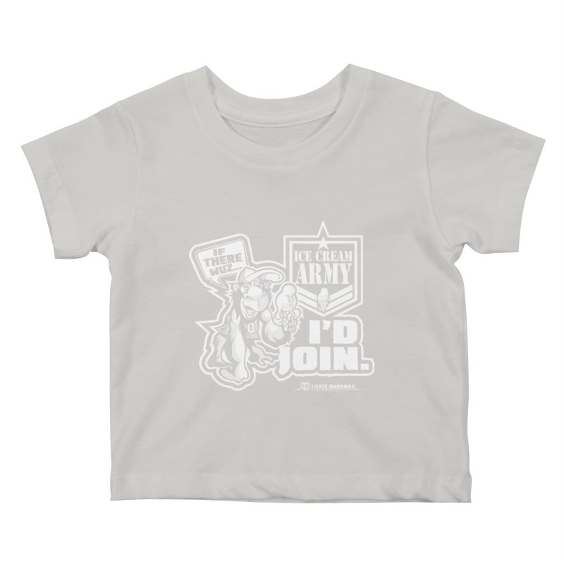 IHB ICE CREAM ARMY Kids Baby T-Shirt by Dogwings