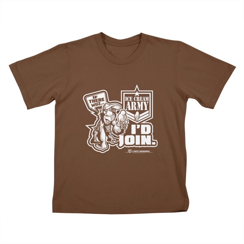 IHB ICE CREAM ARMY Kids T-Shirt by Dogwings