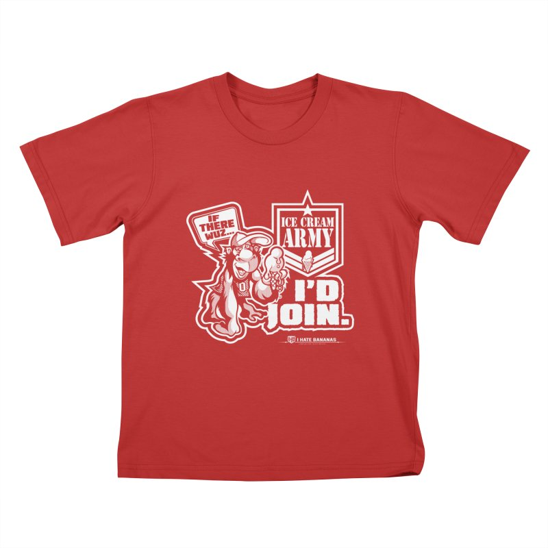 IHB ICE CREAM ARMY Kids T-shirt by Dogwings