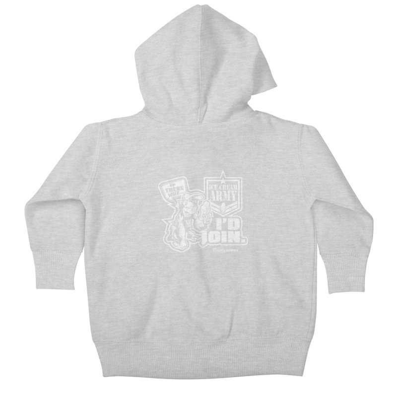 IHB ICE CREAM ARMY Kids Baby Zip-Up Hoody by Dogwings