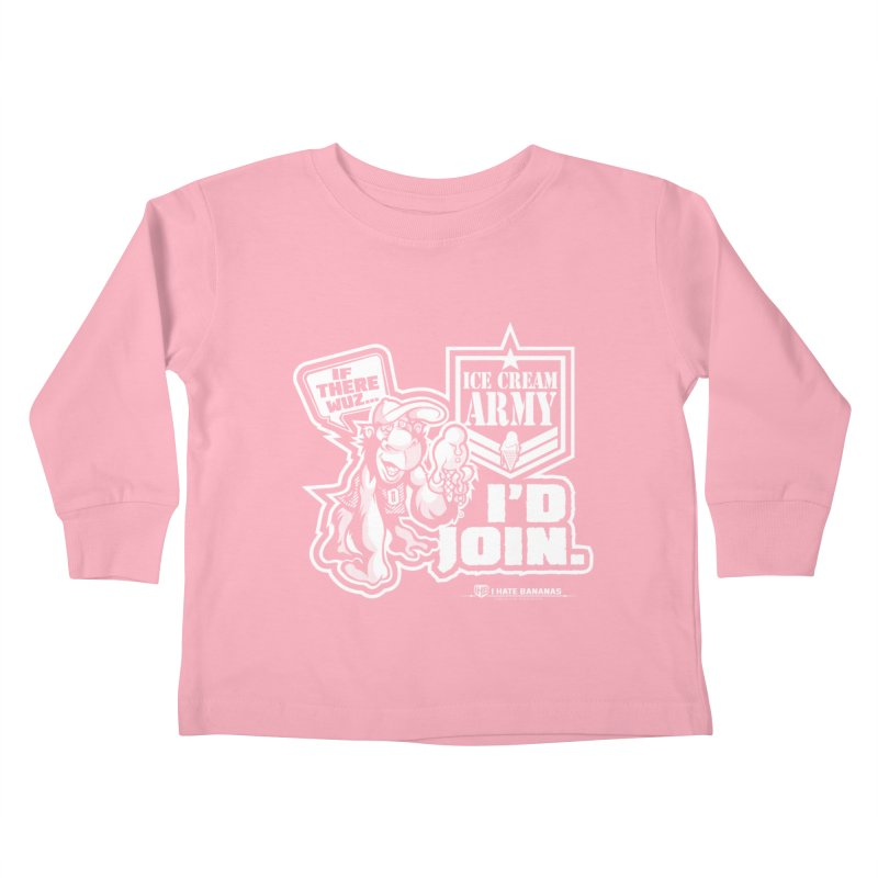 IHB ICE CREAM ARMY Kids Toddler Longsleeve T-Shirt by Dogwings