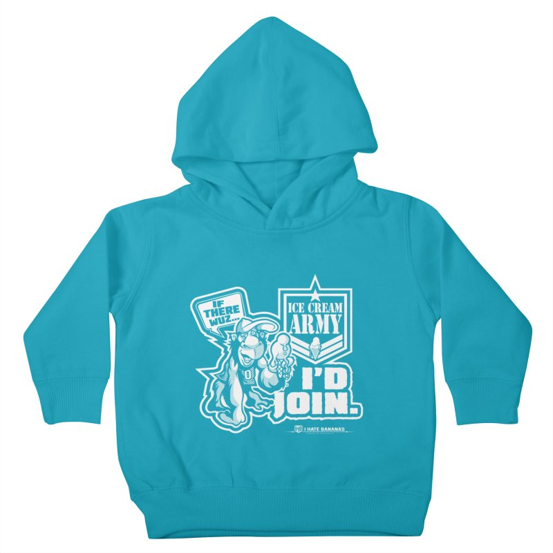 IHB ICE CREAM ARMY Kids Toddler Pullover Hoody by Dogwings