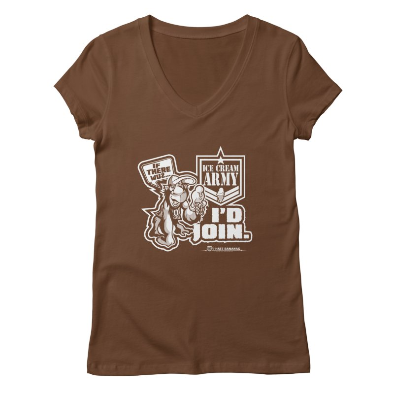 IHB ICE CREAM ARMY Women's V-Neck by Dogwings
