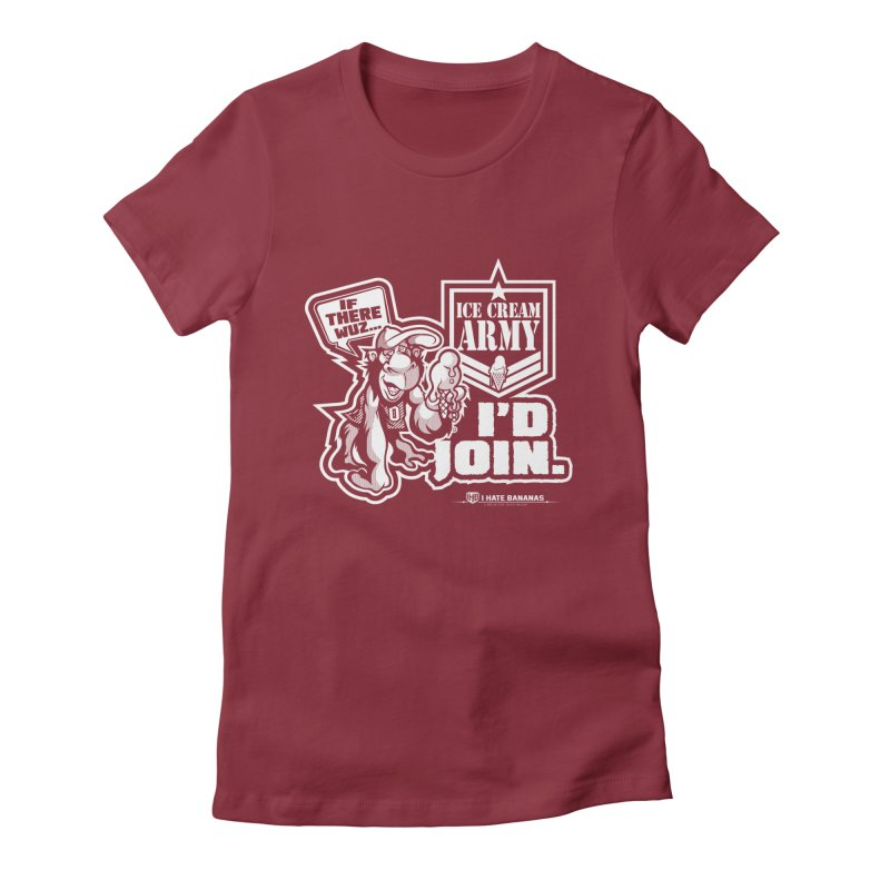 IHB ICE CREAM ARMY Women's Fitted T-Shirt by Dogwings