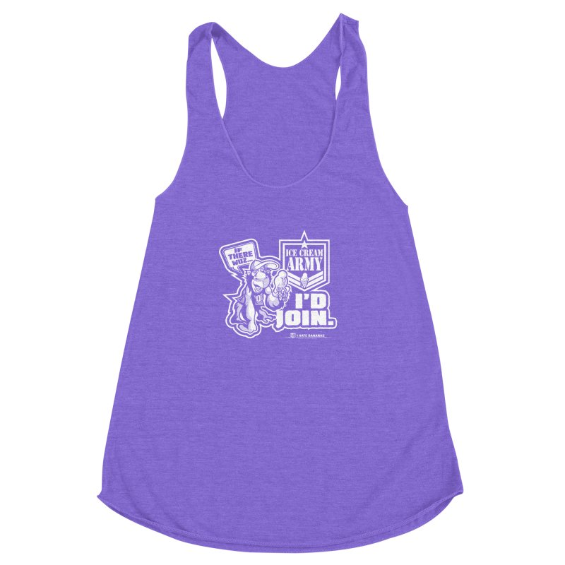 IHB ICE CREAM ARMY Women's Racerback Triblend Tank by Dogwings