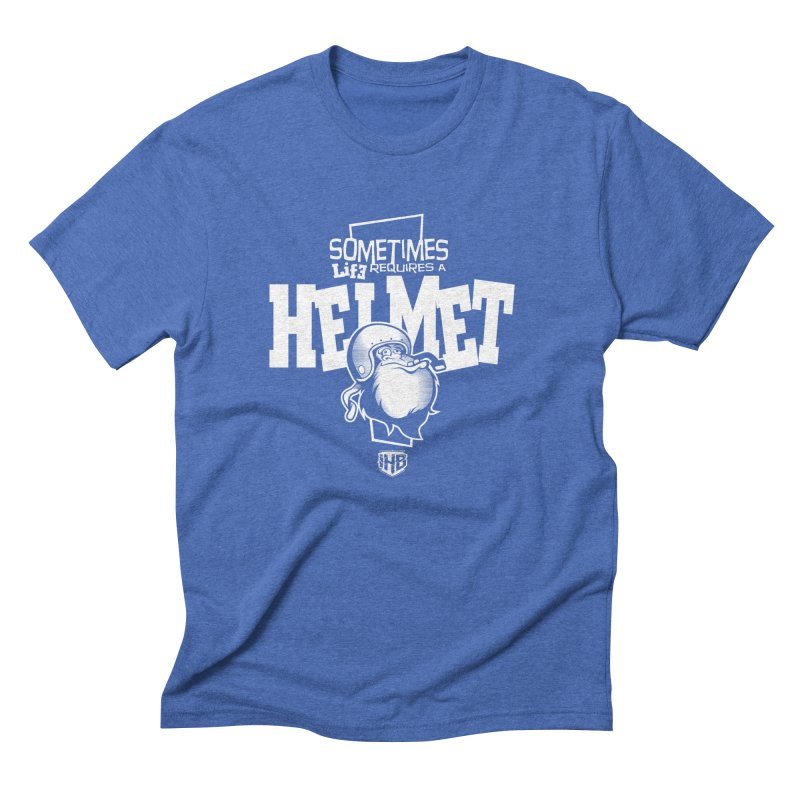 IBH HELMET Men's Triblend T-shirt by Dogwings