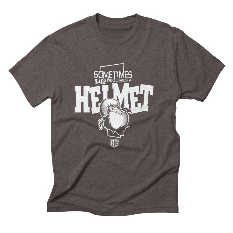 IBH HELMET Men's Triblend T-shirt by Dogwings
