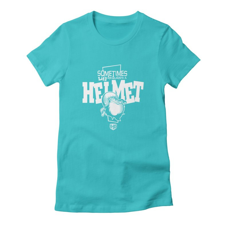 IBH HELMET Women's Fitted T-Shirt by Dogwings