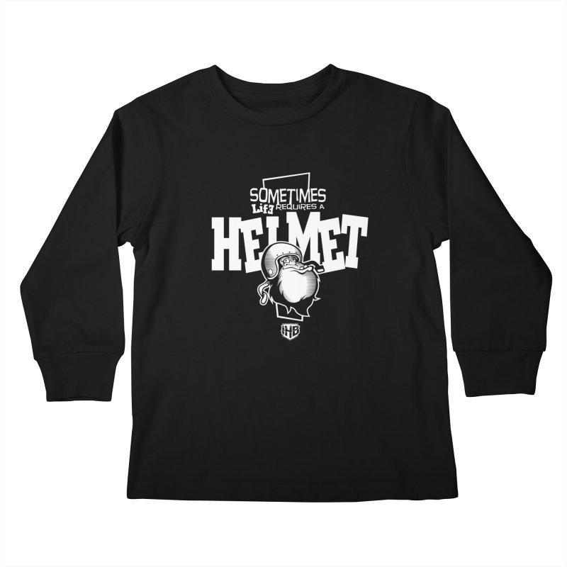 IBH HELMET Kids Longsleeve T-Shirt by Dogwings