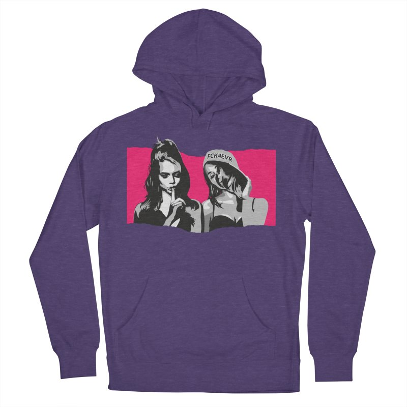 FCK4EVR Men's French Terry Pullover Hoody by DolceQ's Artist Shop