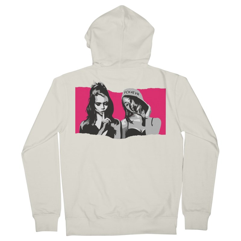 FCK4EVR Men's Zip-Up Hoody by DolceQ's Artist Shop