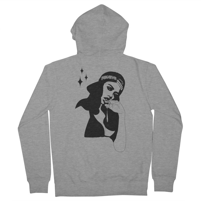 Play Hard Women's Zip-Up Hoody by DolceQ's Artist Shop