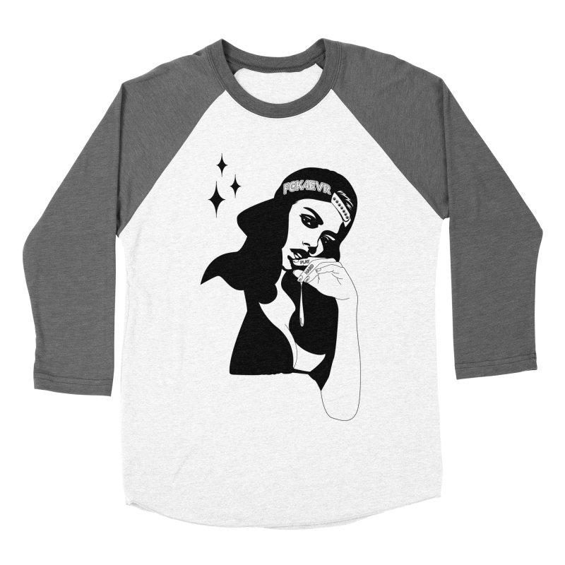 Play Hard Men's Baseball Triblend Longsleeve T-Shirt by DolceQ's Artist Shop