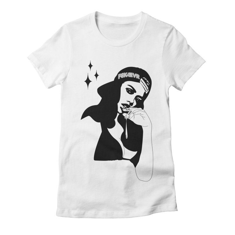 Play Hard Women's Fitted T-Shirt by DolceQ's Artist Shop
