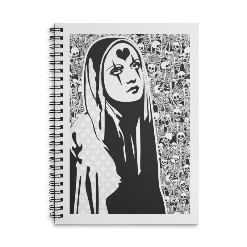 MiaDonna Accessories Lined Spiral Notebook by DolceQ's Artist Shop