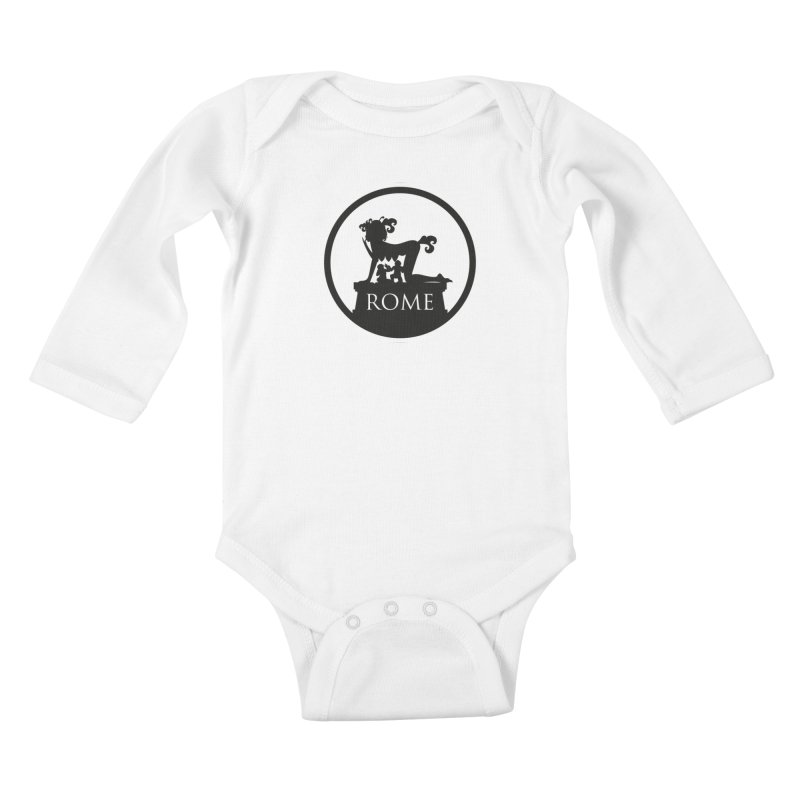 Mamma Roma Kids Baby Longsleeve Bodysuit by DolceQ's Artist Shop