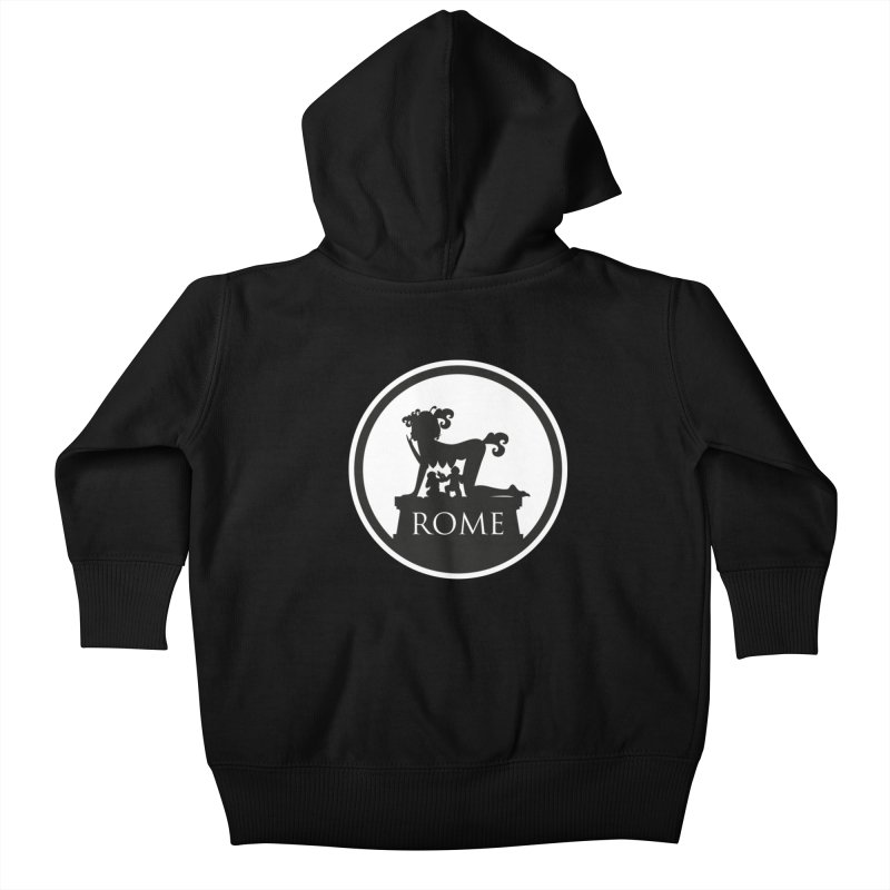 Mamma Roma Kids Baby Zip-Up Hoody by DolceQ's Artist Shop