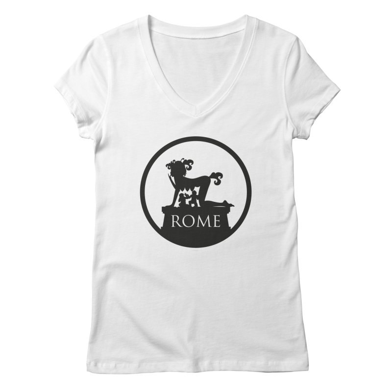 Mamma Roma Women's V-Neck by DolceQ's Artist Shop