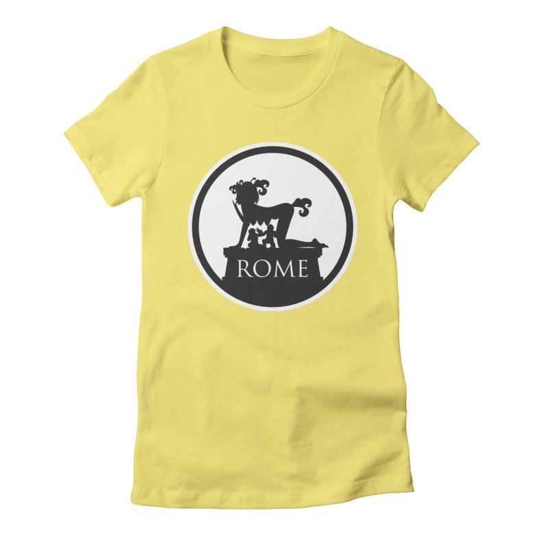 Mamma Roma Women's Fitted T-Shirt by DolceQ's Artist Shop