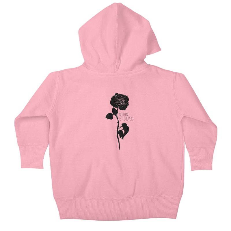 Nothing 4EVR Kids Baby Zip-Up Hoody by DolceQ's Artist Shop