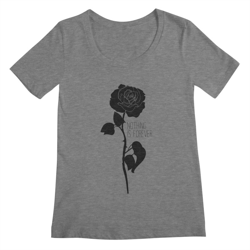 Nothing 4EVR Women's Scoopneck by DolceQ's Artist Shop
