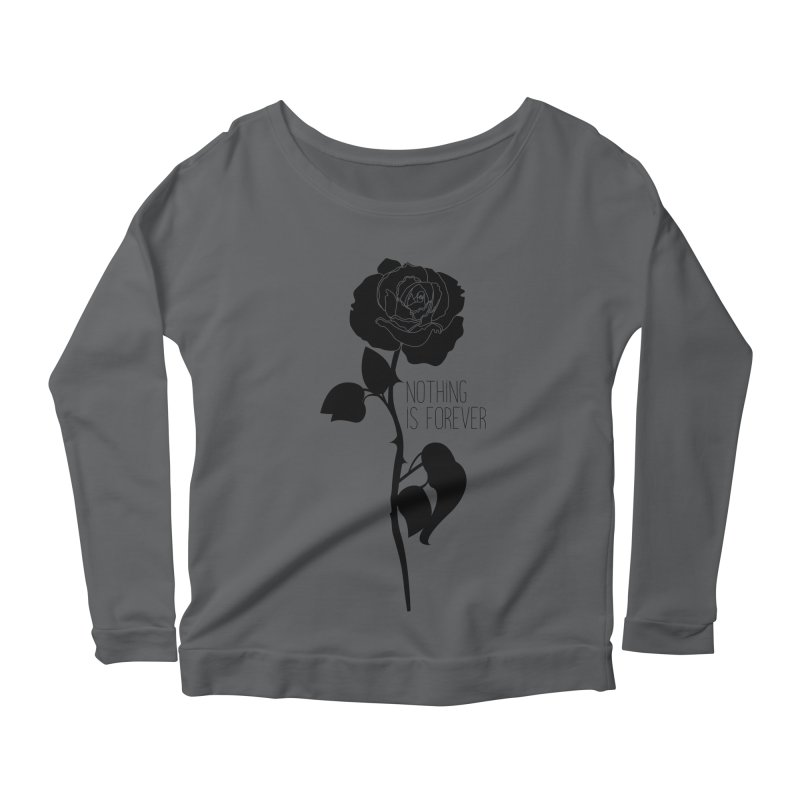 Nothing 4EVR Women's Scoop Neck Longsleeve T-Shirt by DolceQ's Artist Shop