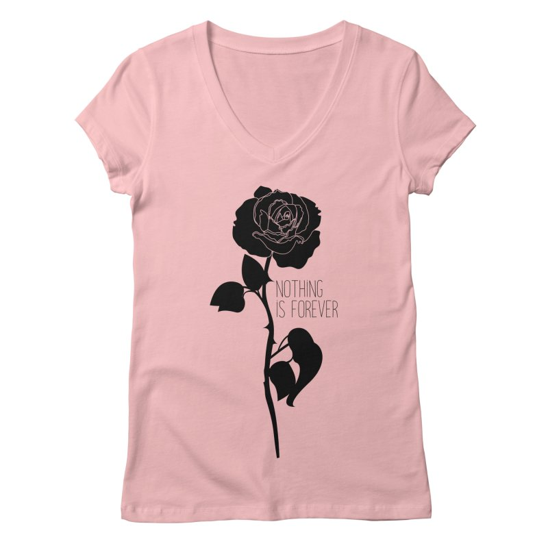 Nothing 4EVR Women's V-Neck by DolceQ's Artist Shop