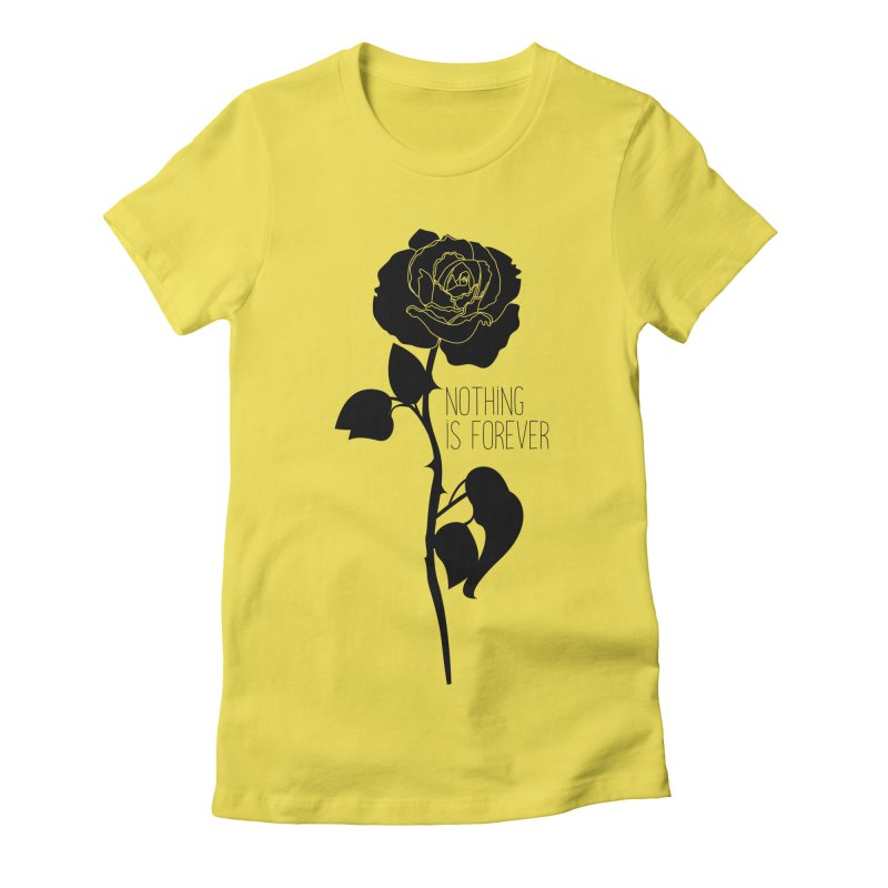 Nothing 4EVR Women's Fitted T-Shirt by DolceQ's Artist Shop
