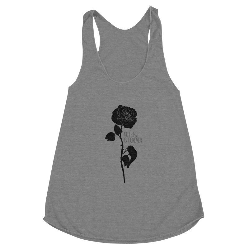 Nothing 4EVR Women's Racerback Triblend Tank by DolceQ's Artist Shop