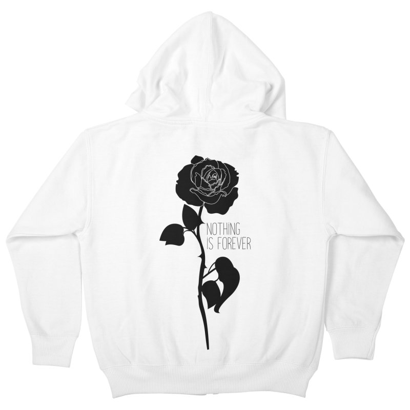 Nothing 4EVR Kids Zip-Up Hoody by DolceQ's Artist Shop