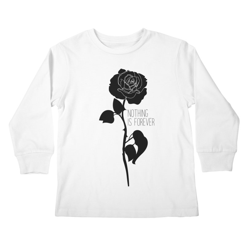 Nothing 4EVR Kids Longsleeve T-Shirt by DolceQ's Artist Shop