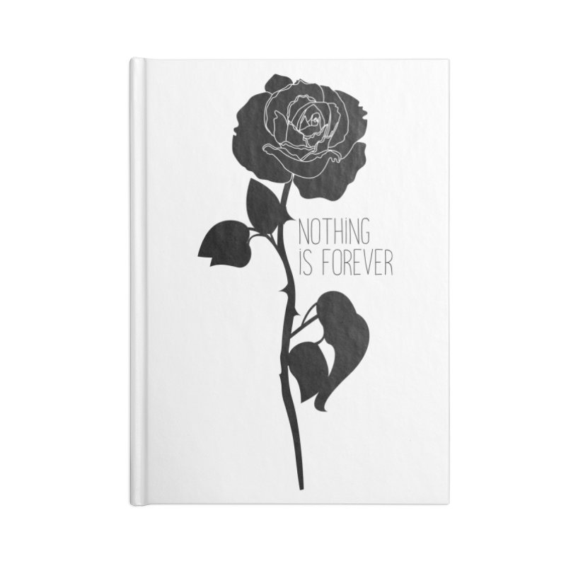Nothing 4EVR Accessories Blank Journal Notebook by DolceQ's Artist Shop