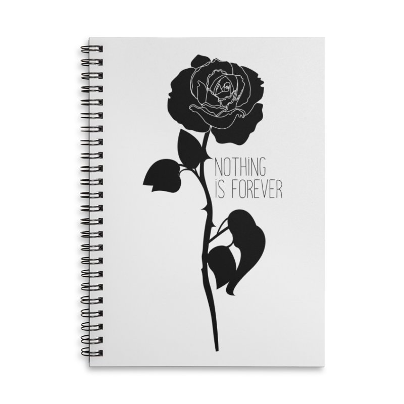 Nothing 4EVR Accessories Lined Spiral Notebook by DolceQ's Artist Shop
