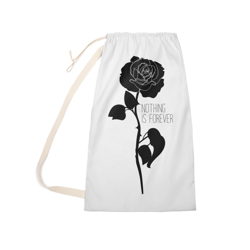 Nothing 4EVR Accessories Laundry Bag Bag by DolceQ's Artist Shop