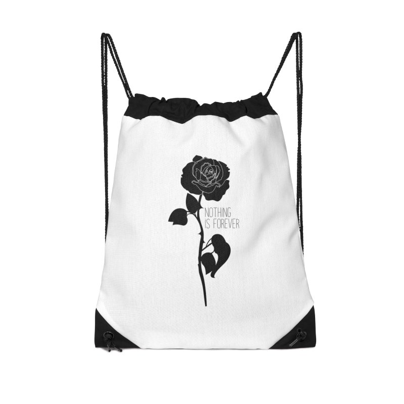 Nothing 4EVR Accessories Drawstring Bag Bag by DolceQ's Artist Shop