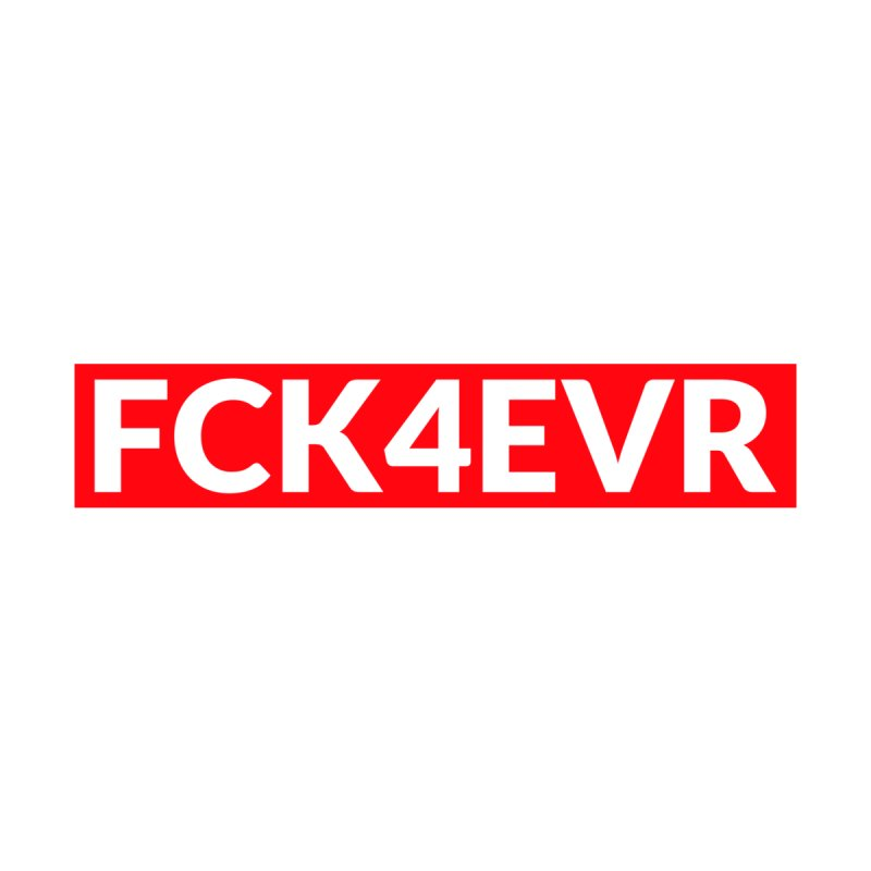 FCK4EVR Women's V-Neck by DolceQ's Artist Shop